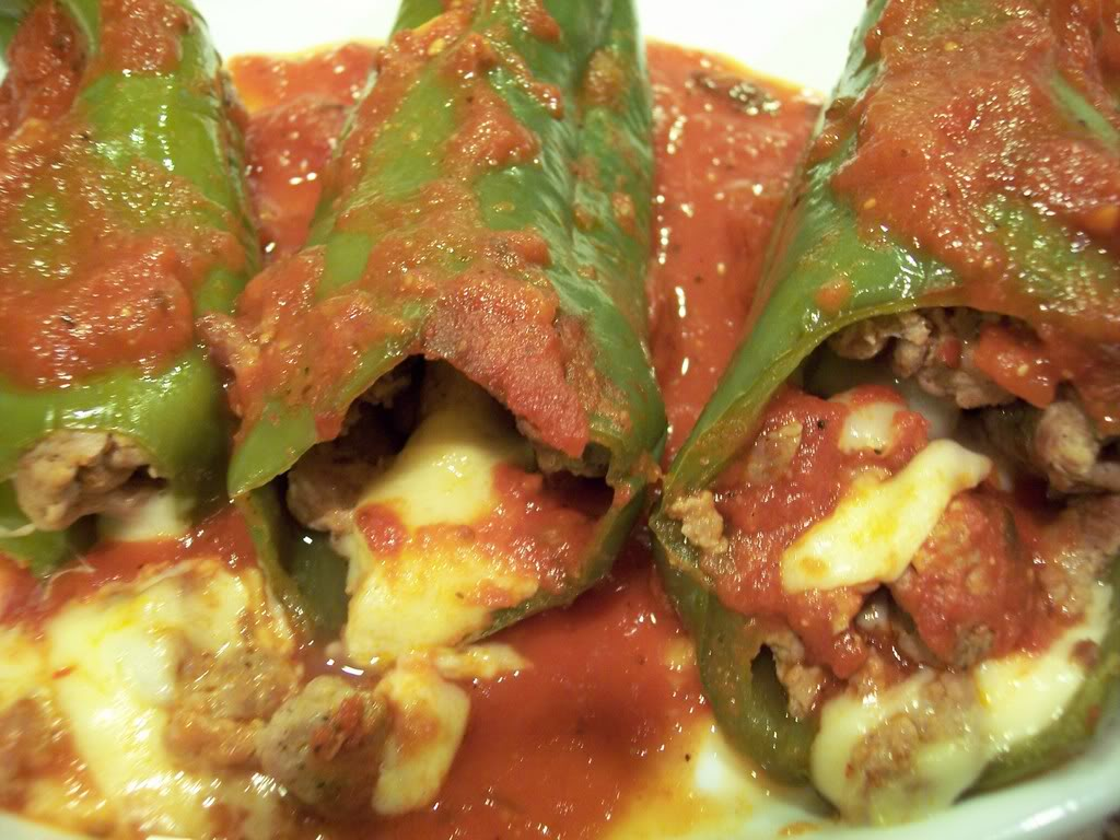 STUFFED PEPPERS WITH SAUSAGE AND FONTINA..