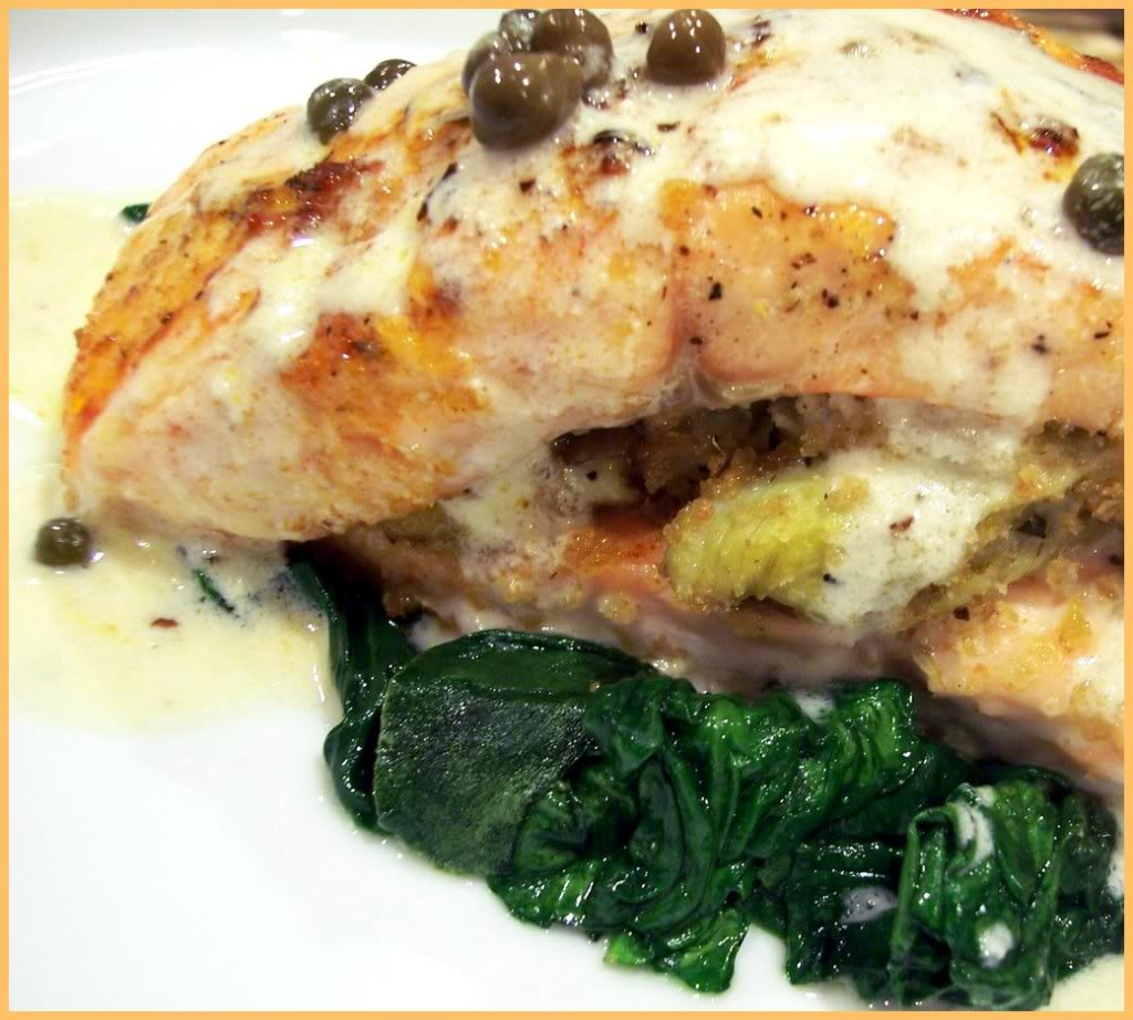 how to cook frozen stuffed salmon