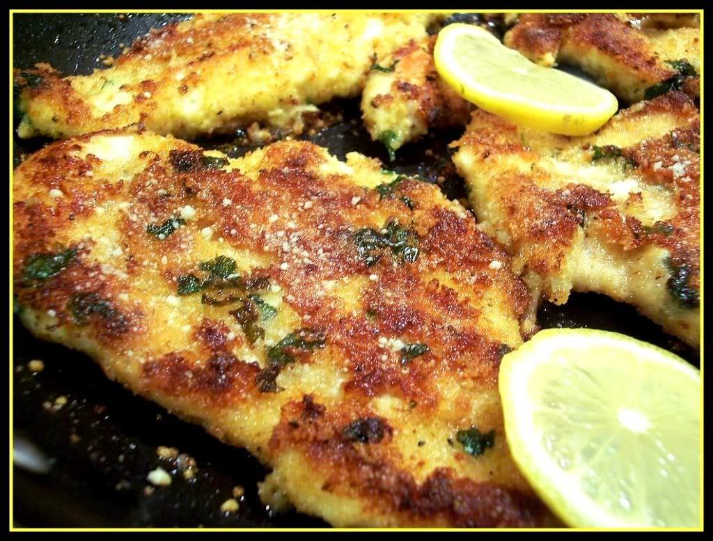 herbed chicken cutlets with panko and parmesan recipes dishmaps herbed ...