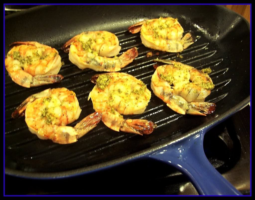 i decided to grill my shrimp inside because a itu0027s too cold outside and b i wanted a good excuse to use my new le creuset grill pan