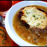 Onion Soup w/ Fontina Garlic Bread! O Foods For Ovarian Cancer Awareness Month!!