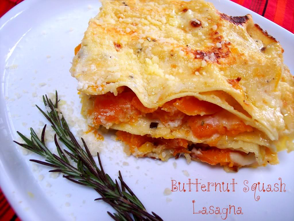 roasted garlic lasagna roasted butternut squash pie roasted butternut ...