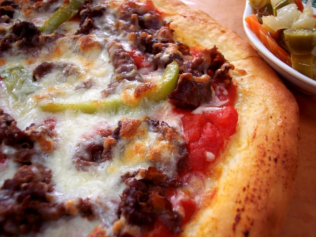 How To Cook A Pizza Chicago Style Italian Beef Pizza Proud Italian Cook