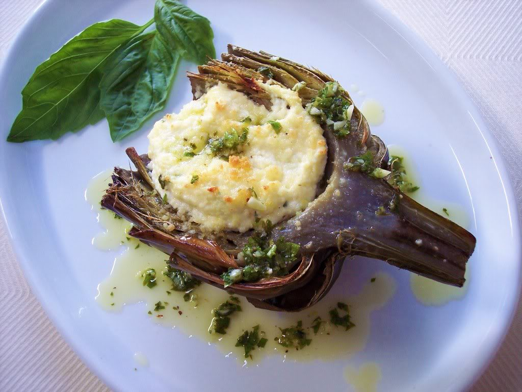 The other day I found four of the most beautiful artichokes, they were ...