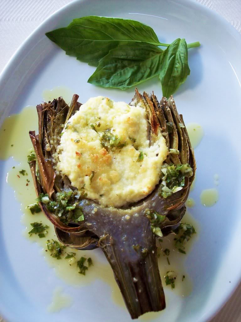 Ricotta Stuffed Artichokes with Lemon Herb Oil - Proud Italian Cook