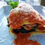 Deconstructed Grilled Veggie Lasagna w/ Romesco Sauce
