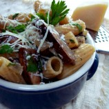 "Ziti with Caramelized Onions and Portobellos ""O Foods"""