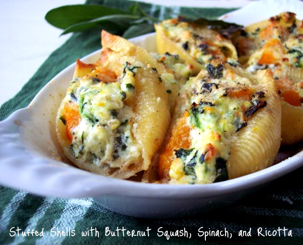 Butternut Squash Stuffed Shells with a Lemon Sage Brown ...