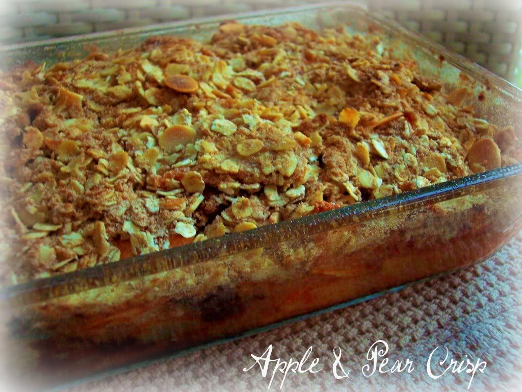 crisp 2 c apple pear crisp spiced apple and pear crisp apple pear ...