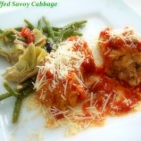 Savoy Cabbage, Sauteed and Stuffed
