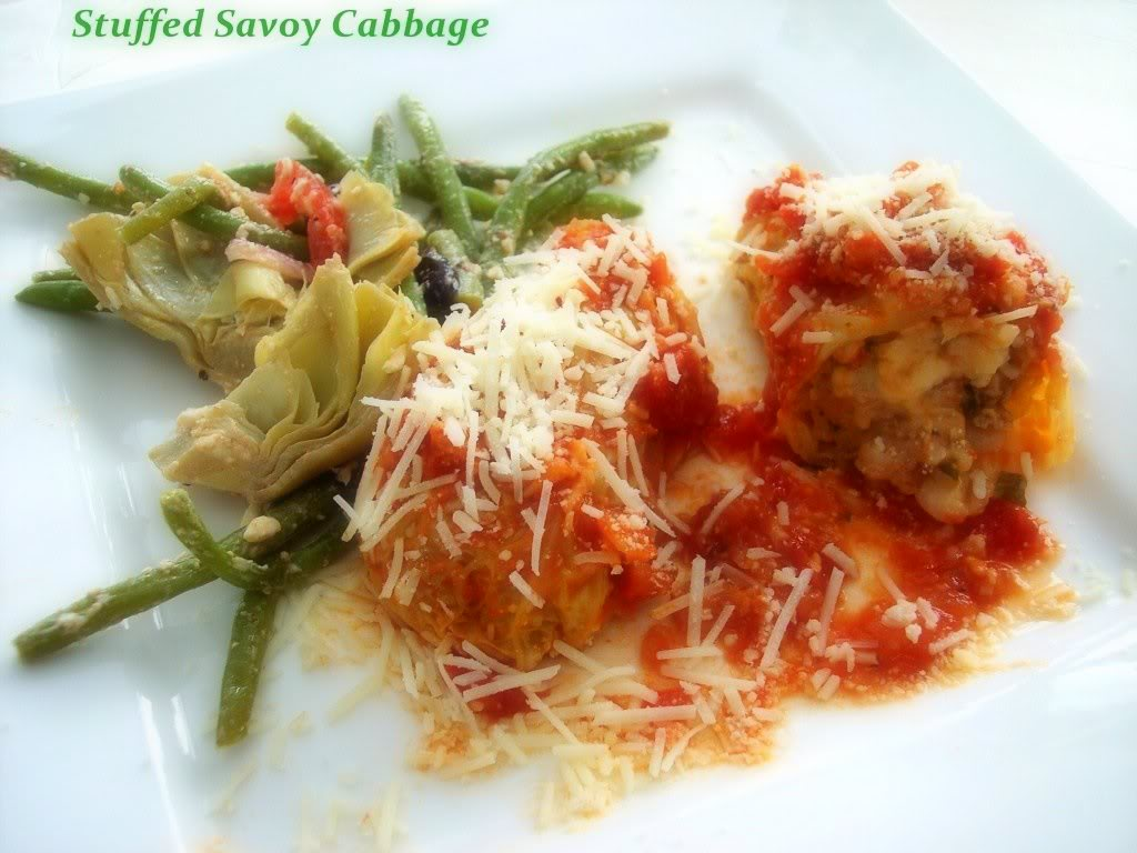 Savoy Cabbage, Sauteed and Stuffed - Proud Italian Cook