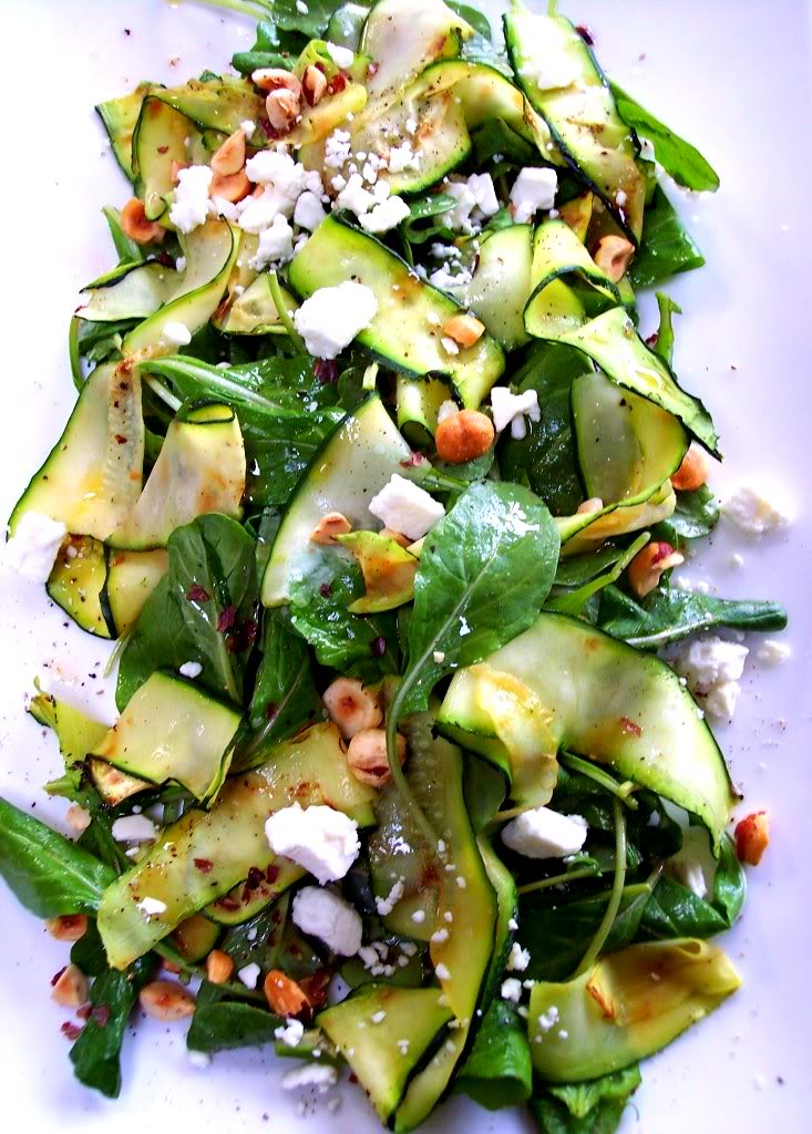 zucchini ribbon salad proud italian cook