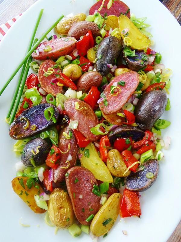 red white blue potato salad