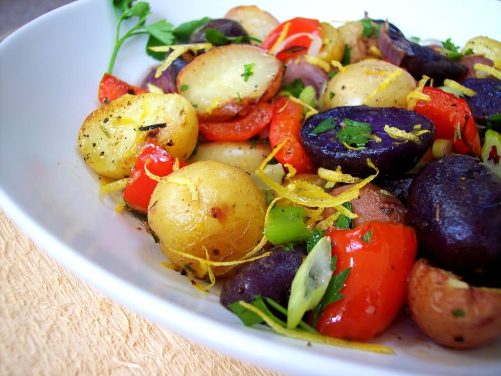 Red, White and Blue Potato Salad - Proud Italian Cook