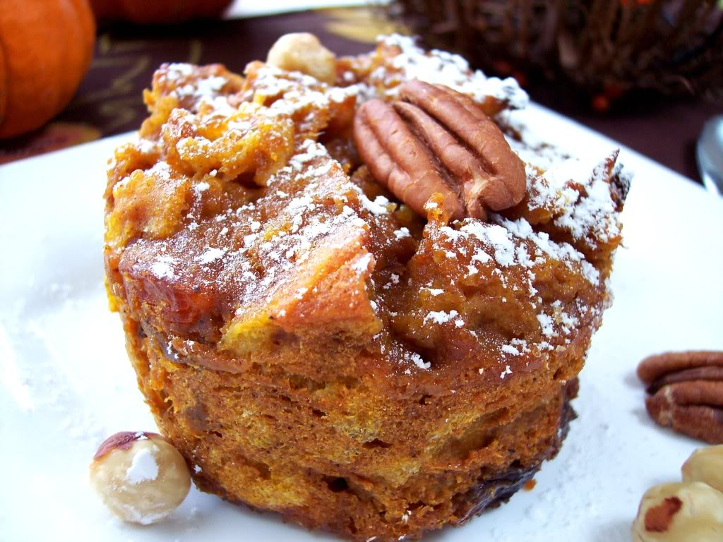 Pumpkin Bread Pudding - Proud Italian Cook