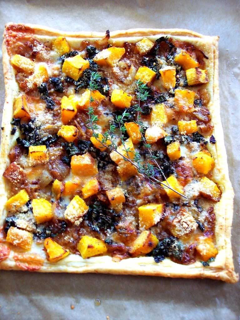 recipe: butternut squash goats cheese puff pastry [16]