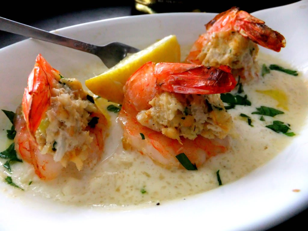 My Recipes Baked Shrimp with Crab Meat Stuffing Recipe ...  Fried Shrimp Stuffed With Crab Dressing