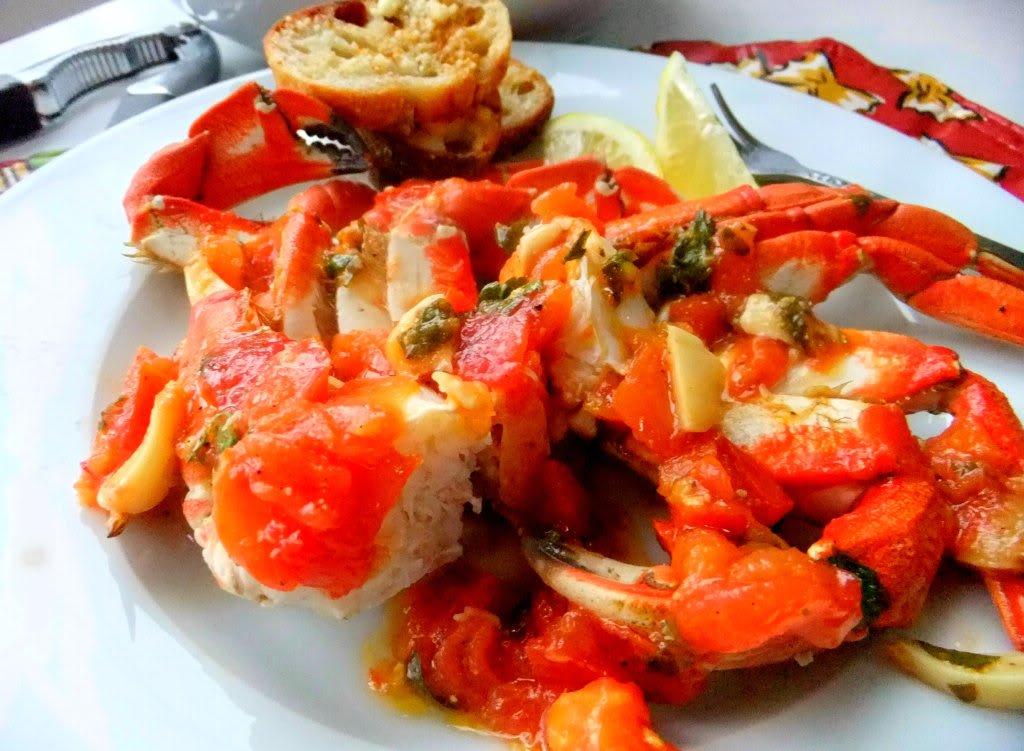 Spicy Tomato Garlic Crab Legs - Proud Italian Cook