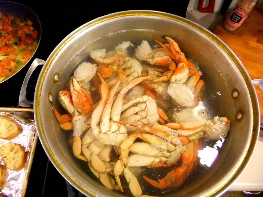 spicy tomato garlic crab legs proud italian cook