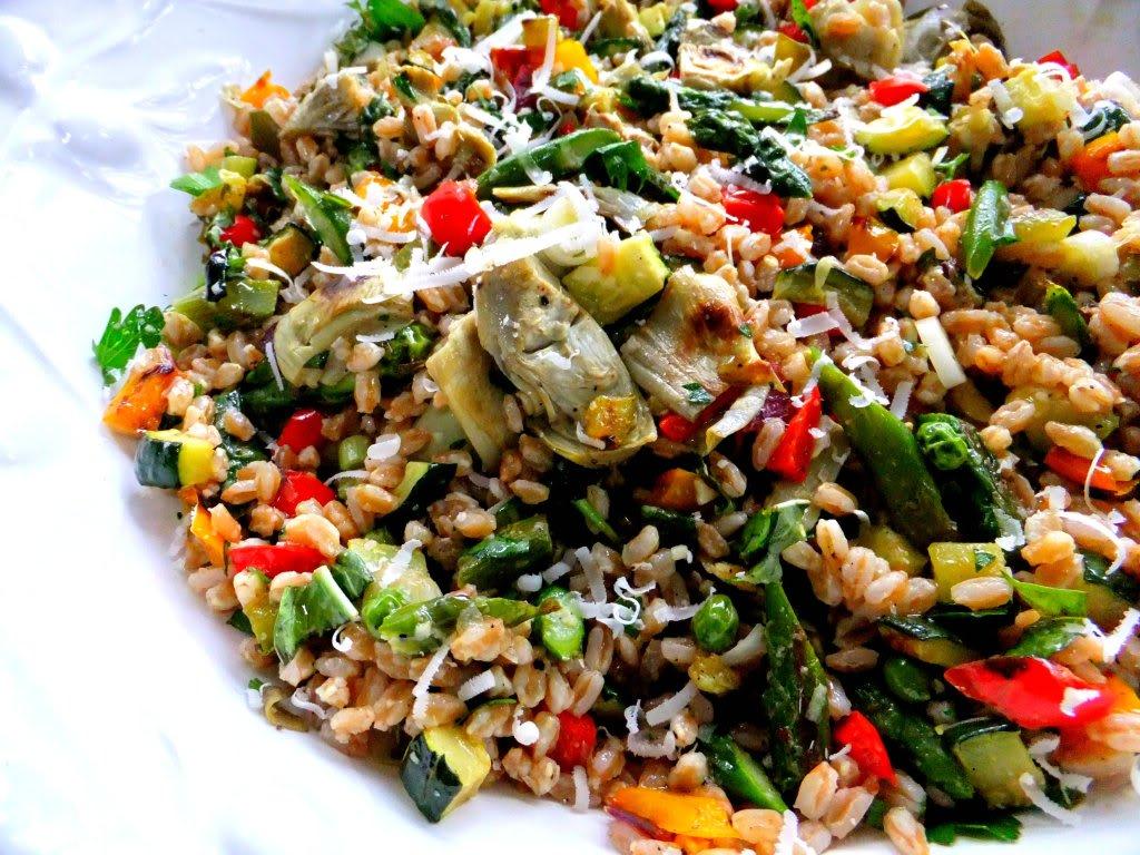 Springtime Farro Salad - Proud Italian Cook