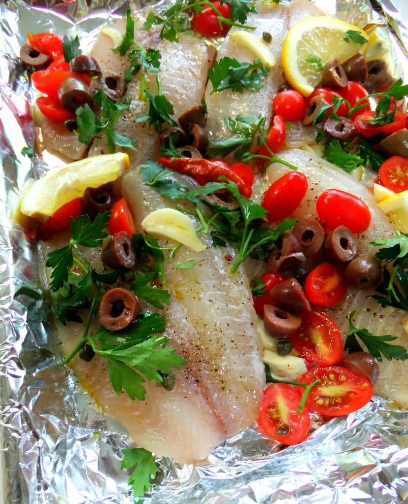 how to cook flathead in foil