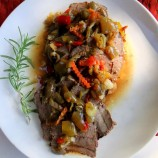 Crock Pot Roast Beef with Giardinera