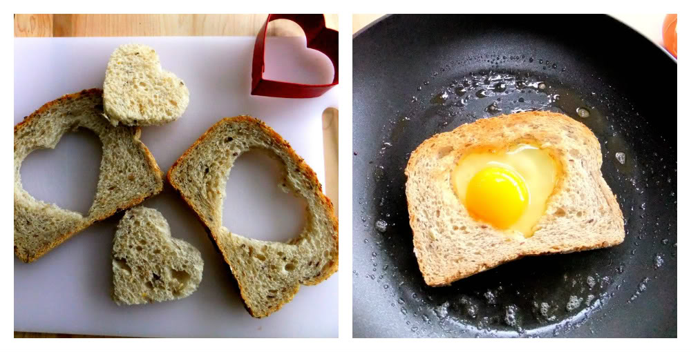 I Got The Heart Idea From Martha Directions Are Here Used Good Quality Multigrain Bread A Bakery And Sprinkled My Eggs With Dry Tuscan Herb