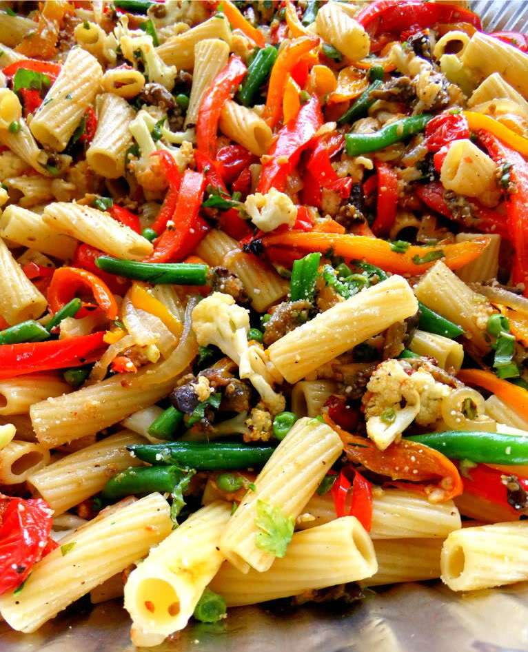 Easy Italian Desserts For A Crowd: Roasted Veggie Pasta For A Crowd