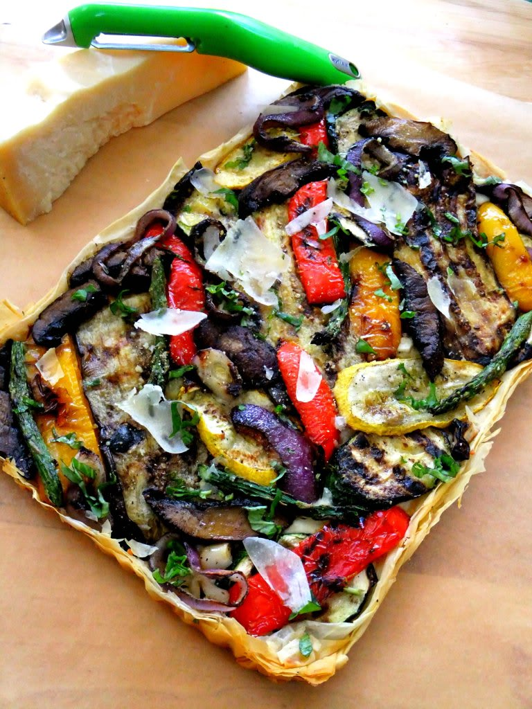 ... perfect, light and flaky, crunchy base for my grilled vegetable tart