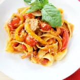 Mamma Agata's Sausage and Red Pepper Pasta and a Special Giveaway