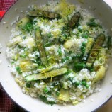Lemony Spring Risotto and the Winner of My Giveaway
