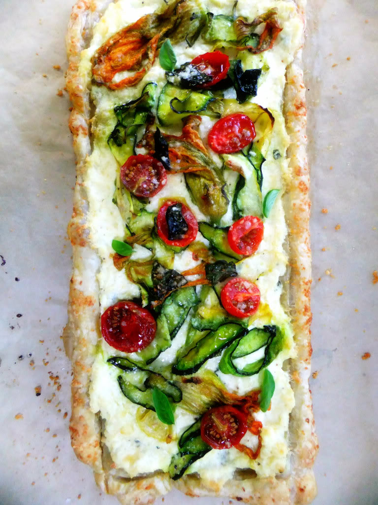 Three-Cheese Hearty Greens And Puff Pastry Tart Recipe ...