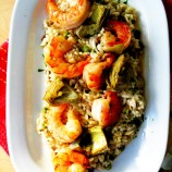 Dinner Party Worthy, Shrimp and Artichoke Risotto