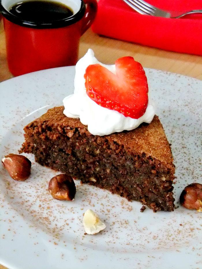 Italian Flourless Chocolate Hazelnut Cake