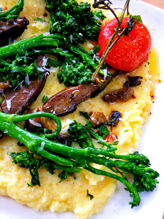Creamy Polenta With Roasted Mushrooms Recipe — Dishmaps