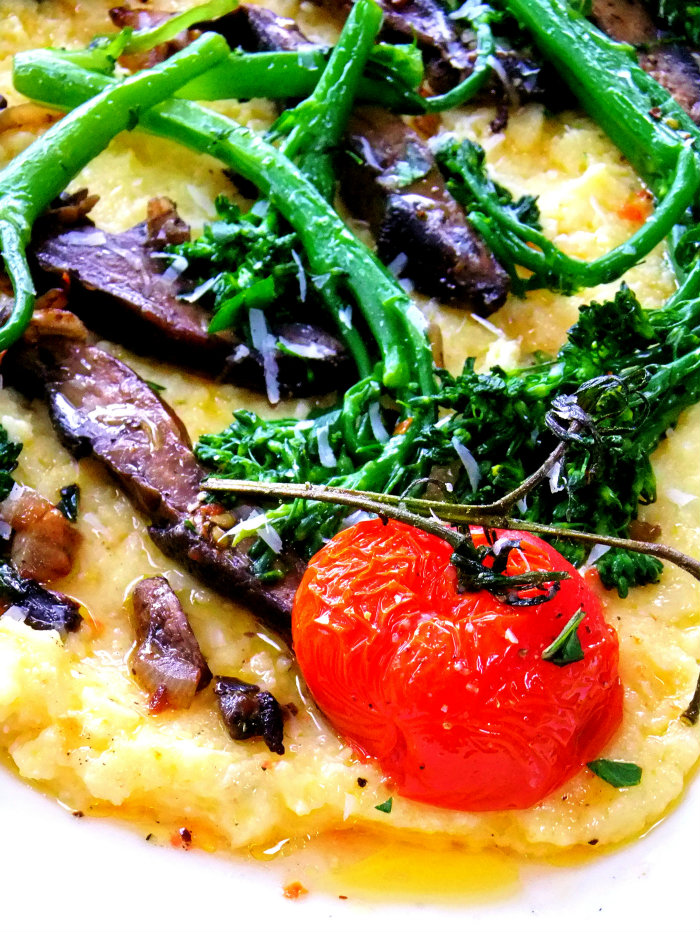 on polenta creamy polenta with roasted mushrooms polenta recipe two ...