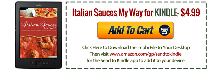 Italian Sauces My Way KINDLE Version