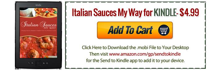 Italian Sauces My Way KINDLE Version