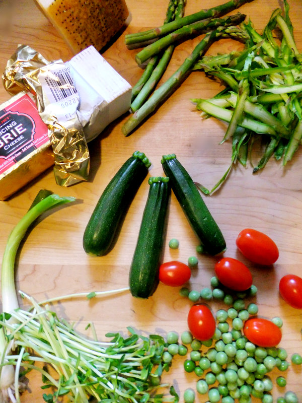 Ingredients for a frittata