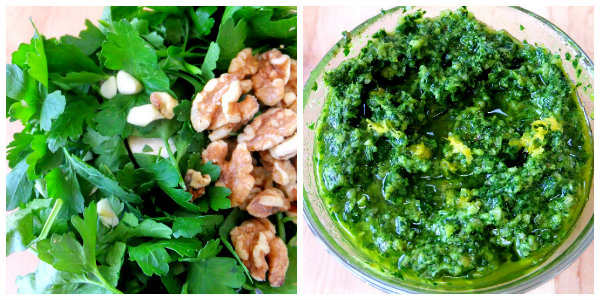 parsley walnut pesto