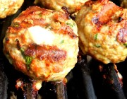 Grilled Meatballs Stuffed with Fontina and Some Exciting News!