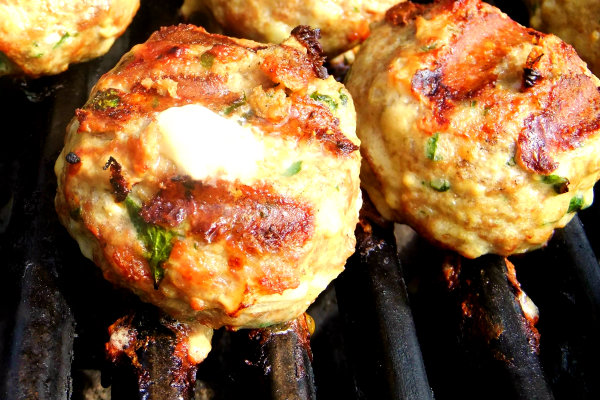 Grilled Meatballs Stuffed with Fontina and Some Exciting News! - Proud ...