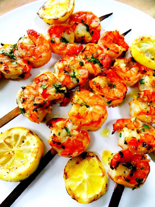 shrimp skewers