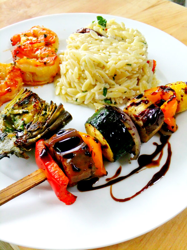 Lemon Pesto Vegetable Skewers Recipes — Dishmaps