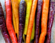 raw rainbow carrots