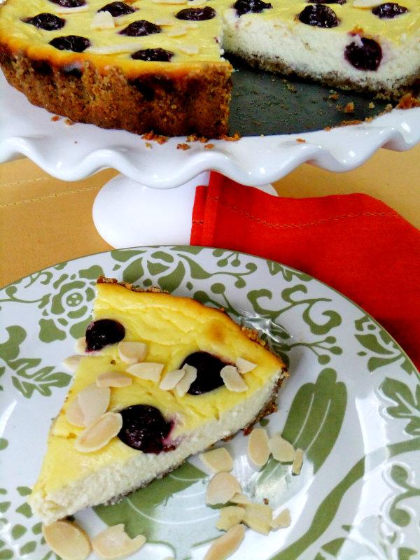 slice of ricotta tart