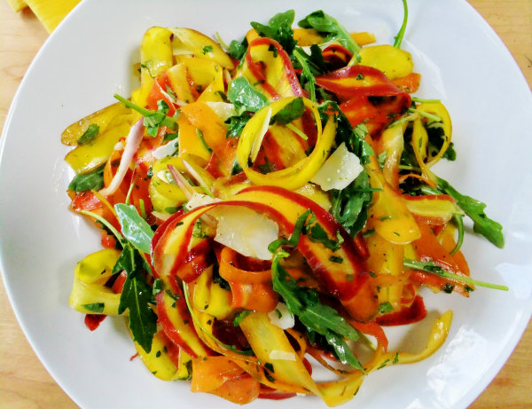 Rainbow Carrot Ribbon SaladProud Italian Cook