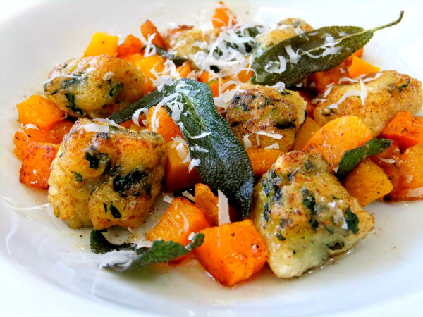 pan fried kale gnocchi