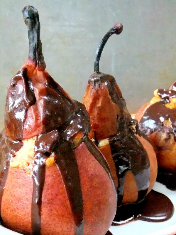 ricotta stuffed pears