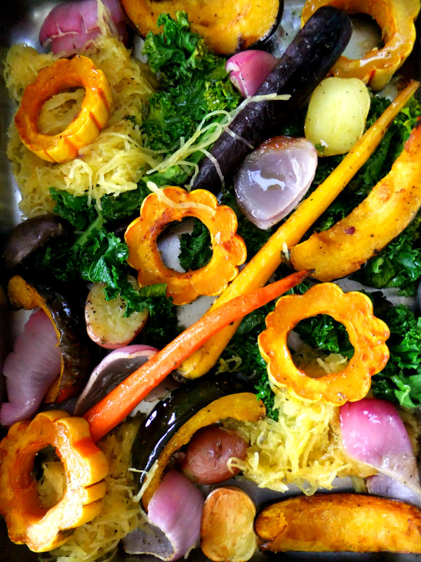 roasted autumn veggies